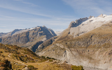 Riederalp, Bergdorf, Aletsch, Walliser Berge, Alpen, Schweiz