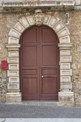 Wooden door. Brienza. Basilicata. Italy.