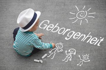 Kinderzeichnung - Geborgenheit