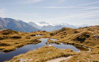 Bettmeralp, Bergdorf, Bergsee, Walliser Alpen, Schweiz