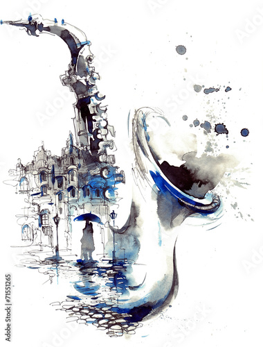 Leinwandbild Motiv melody city