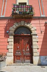 Historical palace. Brienza. Basilicata. Italy.