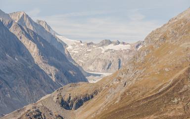 Riederalp, Schweizer Alpen, Walliser Berge, Gletscher, Sommer