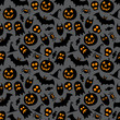 Halloween vector seamless pattern - 71551800