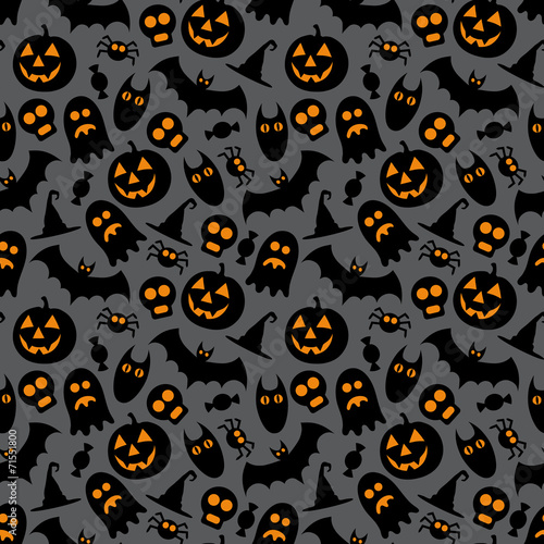 Halloween vector seamless pattern - 71551800
