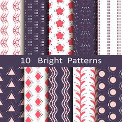 set of ten bright patterns