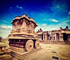 Stone chariot in Vittala temple,  Hampi