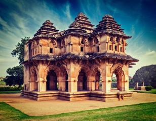 Lotus Mahal palace ruines in Hampi