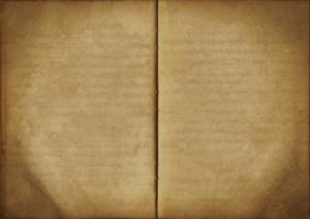 Vintage open empty notebook