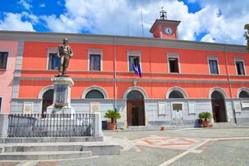 Town Hall Building. Brienza. Basilicata. Italy.