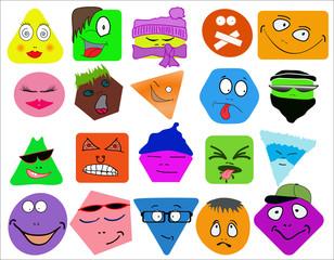 A set of very original emoticon
