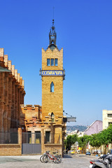 Beautiful historical landscape of the urban view Barcelona, Cata