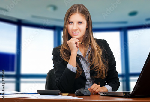 canvas print picture Businesswoman at work