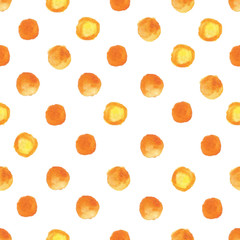 Vector watercolor pattern with orange drops