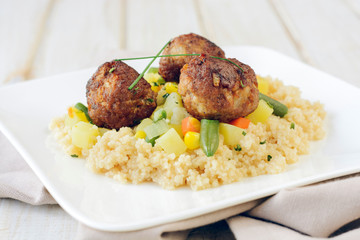 Couscous and meat
