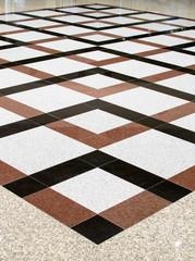 different floor tiles indoors