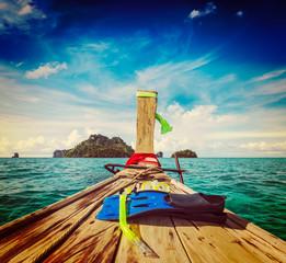 Snorkeling set on boat