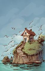casa en el mar