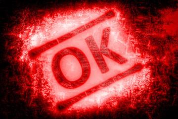 red ok symbol...
