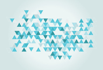hipster triangle texture in blue green tones