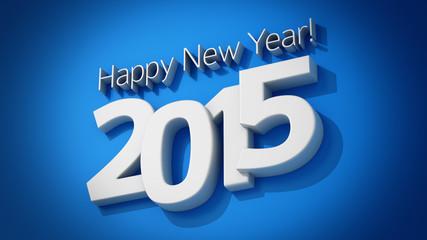 Blue greeting card 2015