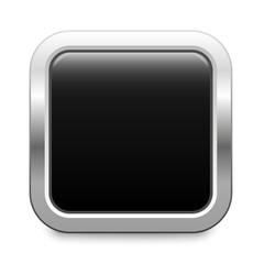 Square template - black metallic button