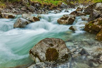 Cascade of Kuhfluchtwasserfall. Farchant