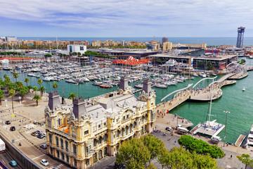 BARCELONA, SPAIN - SEPTEMBER 03: View of the embankment of Barce