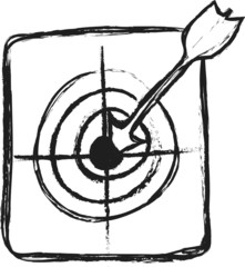 doodle arrows and target