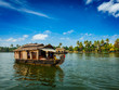 Houseboat on Kerala backwaters, India - 71556864