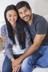 Asian Chinese Man Woman Couple