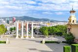 View in Barcelona on Placa De Espanya( Square of Spain),Spain. poster