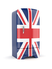 Union Jack flag fridge