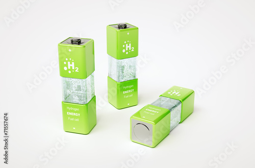 Leinwandbild Motiv Concept of hydrogen fuel cell battery