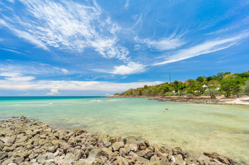 Coral beach Samed island