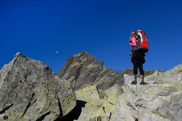 Watching the mountain crests, High Tatras of Slovakia