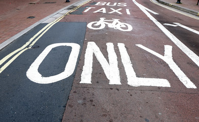 Taxi, bike, only