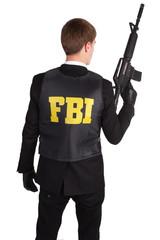 FBI Agent with rifle