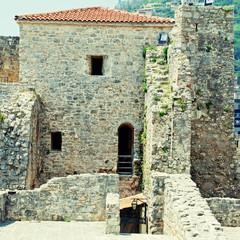 Old houses in Budva, Montenegro.