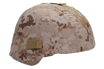 us marines kevlar helmet with desert camouflage cover