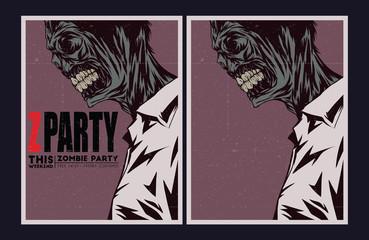 Zombie party invitation.