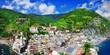 panorama of Vernazza - beautiful coastal village in Cinque terre