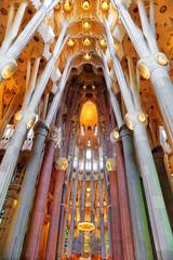 BARCELONA, SPAIN - SEPTEMBER 04: Sagrada Familia,beautiful and m
