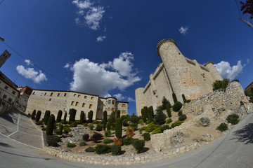 Torija castle through a fisheye lens