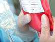Blood transfusion. Doctor preparing a dose