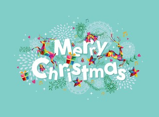 Merry Christmas contemporary greeting card