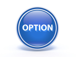 option circular icon on white background