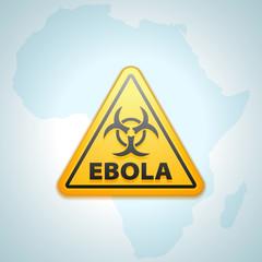 Ebola hazard sign