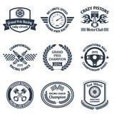 Racing emblems black