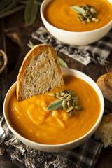 Homemade Autumn Butternut Squash Soup